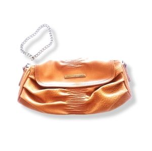MATT & NAT Caramel Brown Faux Leather Clutched